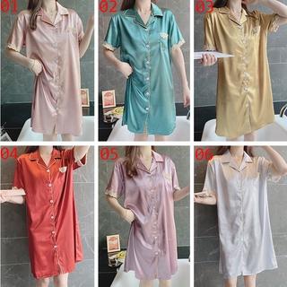 Đầm Ngủ Vải Lụa Satin Phối Ren Thời Trang Quyến Rũ Cho Nữ 2021 M-2xl