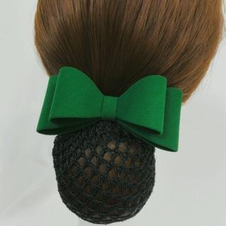 Kẹp tóc lưới búi màu xanh lá cây ROSES Hair Accessories thumbnail