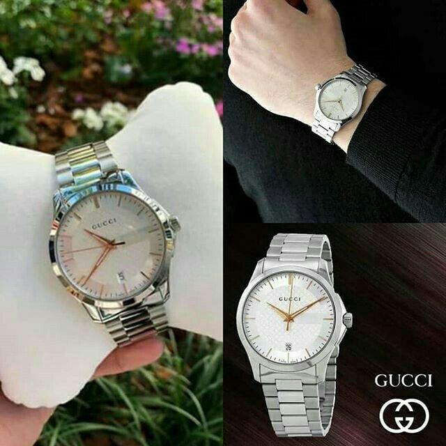 ,⌚นาฬิกาแบรนด์ GUCCI  G-Timeless Silver Dial Stainless Steel Unisex Watch  สั่งซื้อแอด🆔Line: aisha_tookta