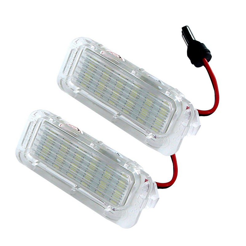 Niscarda 2Pcs 6000K White Error Free Car Led Number License Plate Lamp For Ford Focus 5D Fiesta Mondeo Mk4 C-Max Mk2 S-M