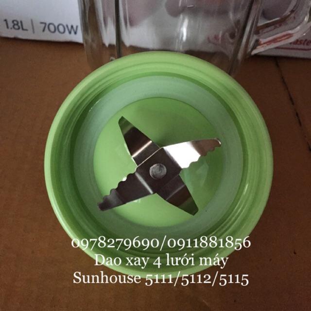 Dao xay và zoăng cao su máy sinh tố Sunhouse mã SHD5111 SHD5112 SHD5115