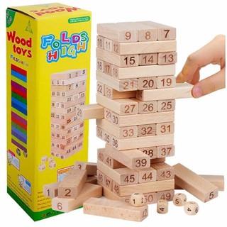 Rút gỗ số – Jenga cỡ lớn – Đồ chơi giáo dục cho bé