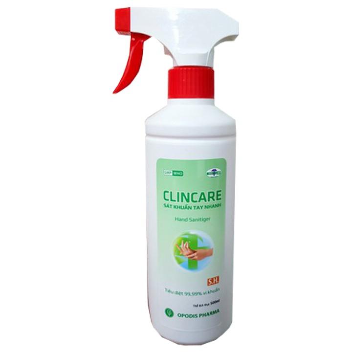Dung dịch sát khuẩn rửa tay nhanh và bề mặt vật dụng Clincare S.H 500ml -  Sản phẩm chăm sóc cơ thể khác | MuaDoTot.com