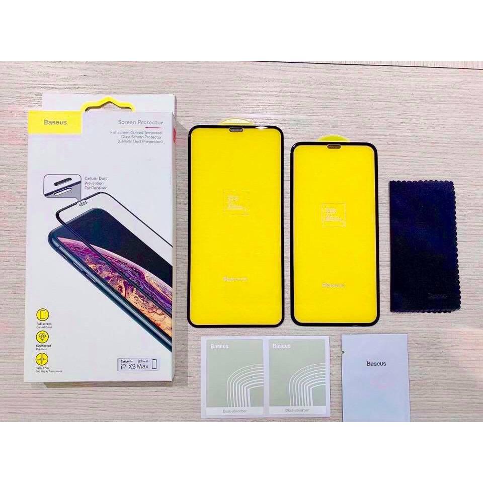 Kính cường lực full màn hình Baseus bảo vệ màng loa cho IPhone XS Max - Baseus 3D IPhone XS max