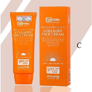 [Mã FMCGMALL - 10% đơn 250K] Kem chống nắng Collagen Face Cream Benew Hàn quốc trắng da, lên tông, kiềm dầu 70ml/Hộp