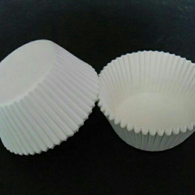 Cupcake Giấy lót bánh trắng 5cm