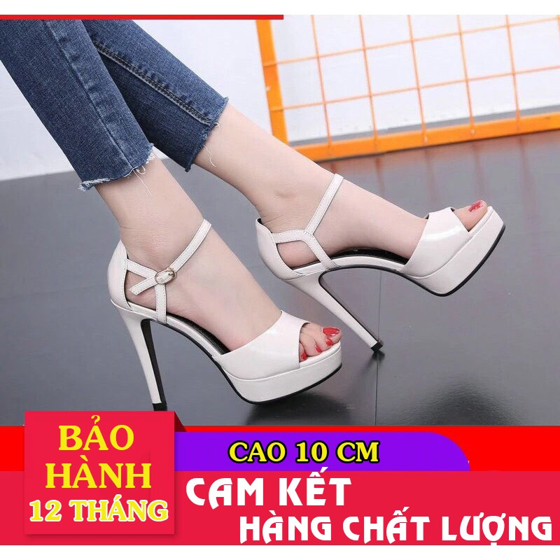 Giày cao gót hở eo đúp mũi cao cấp - CG103