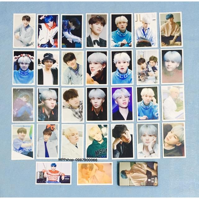 LO MO card SUGA BTS gồm 30 tấm ảnh khác nhau
