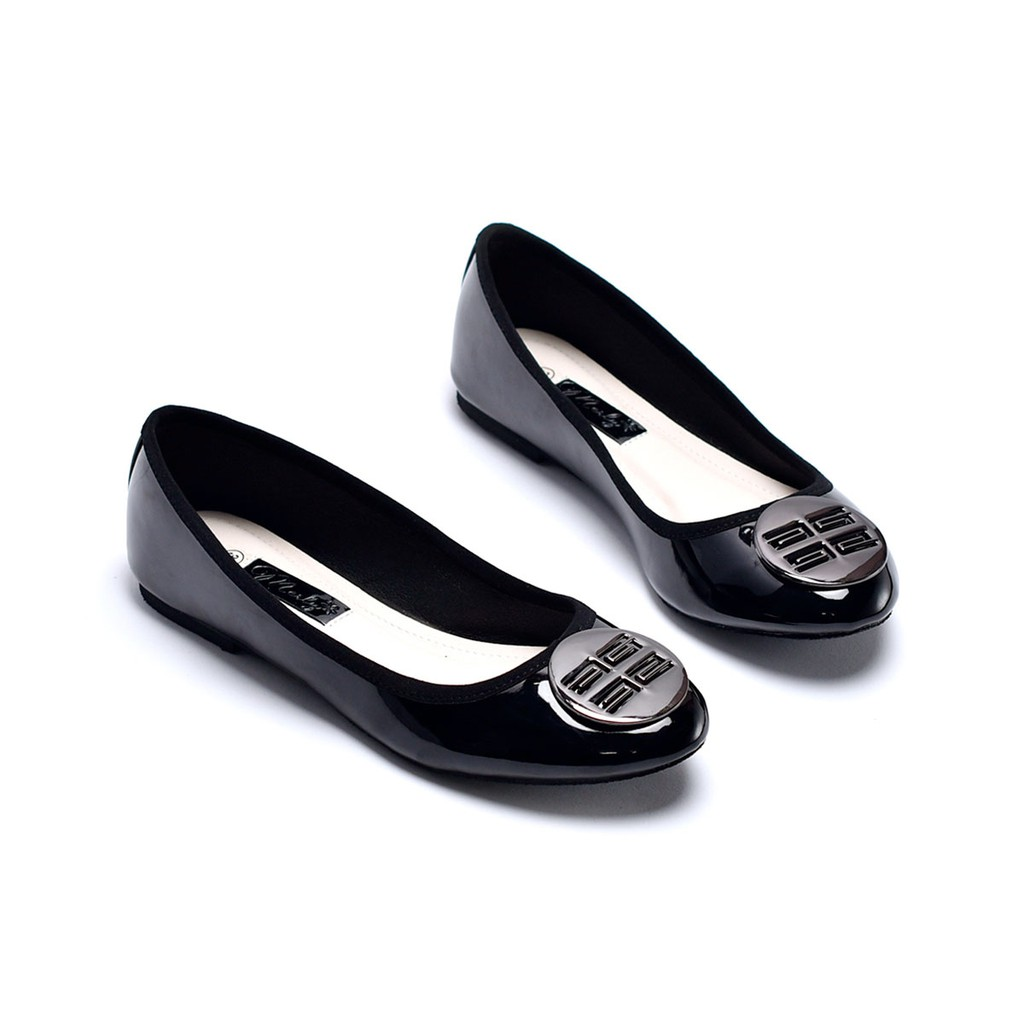 Giày búp bê đính khóa tròn Merly 1221