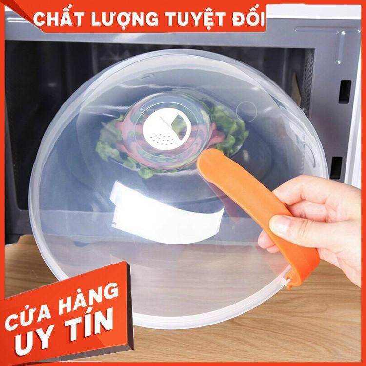 Nắp đậy thực phẩm có tay cầm - Nắp đậy lò vi sóng - Chất liệu nhựa PP an toàn