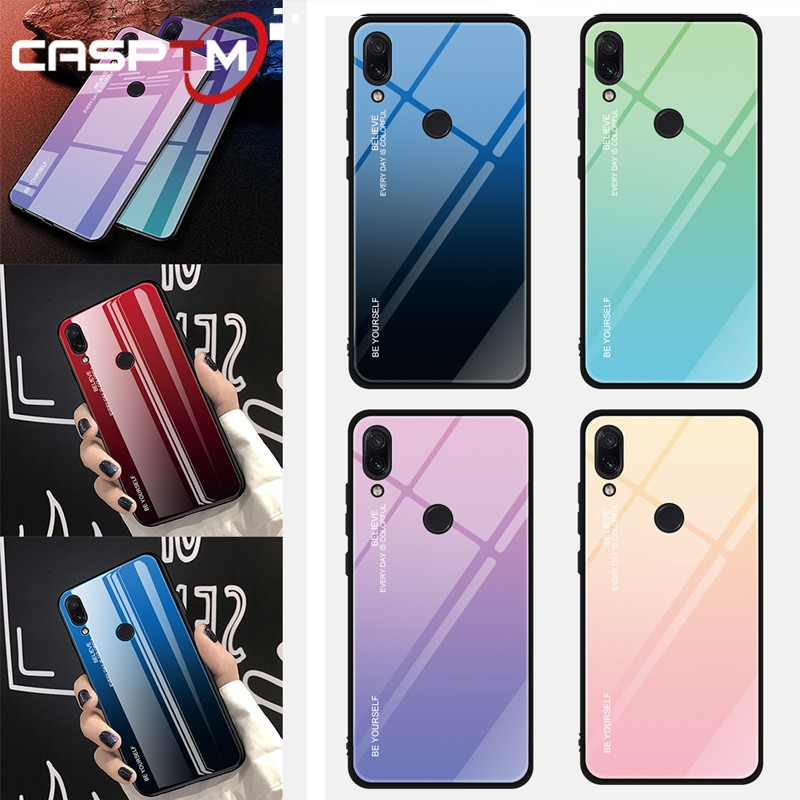 1c26a2ad1 Gradient Color Tempered Glass Case For Xiaomi Redmi Note 6 5 Pro 5Plus 6A