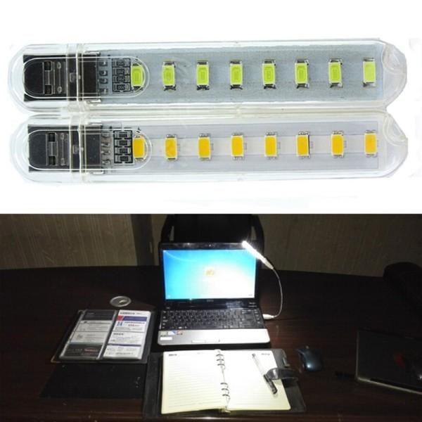 Đèn LED 8 bóng siêu sáng gắn cổng USB
