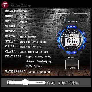 Đồng hồ điện tử chống thấm nước có đèn LED cho bé trai bé gái