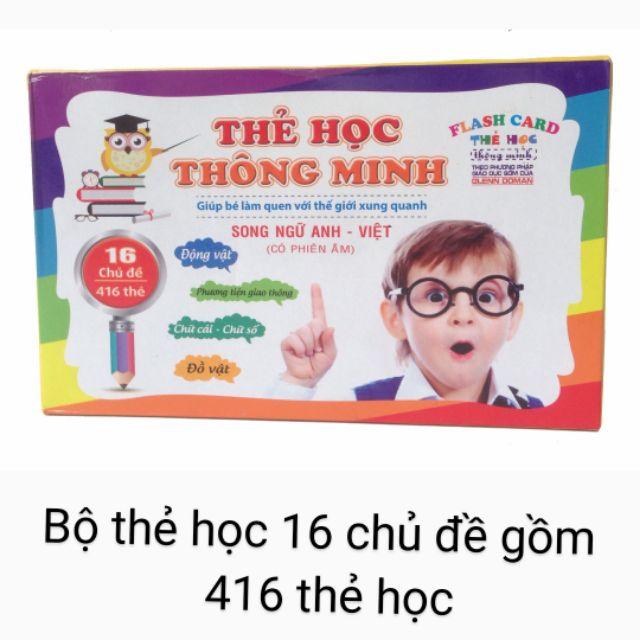 Bộ thẻ học thông minh flash card Kidsvn song ngữ Anh-Việt (có phiên âm)