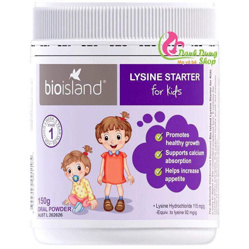 Bio Island Lysine Dạng Bột (từ 6m đến dưới 6 tuổi)