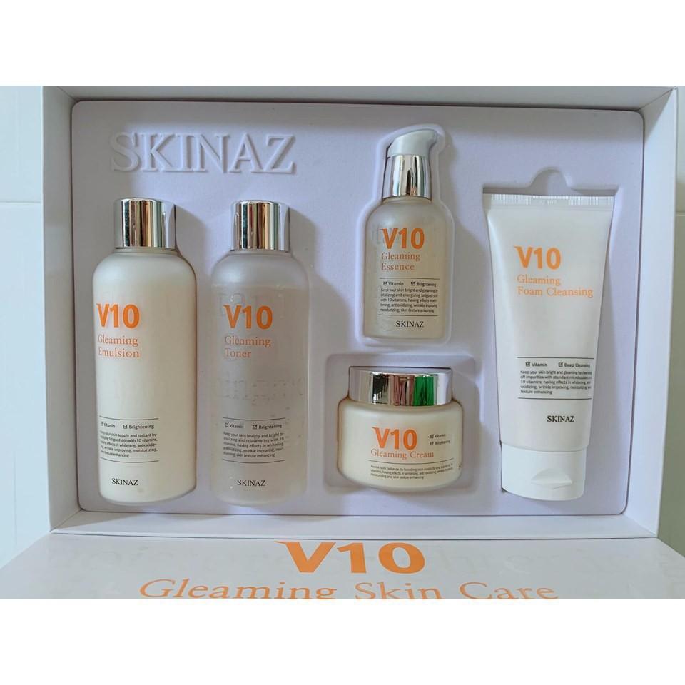 Bộ dưỡng trắng da cao cấp V10 Skinaz - Siêu phẩm chăm sóc da 2019