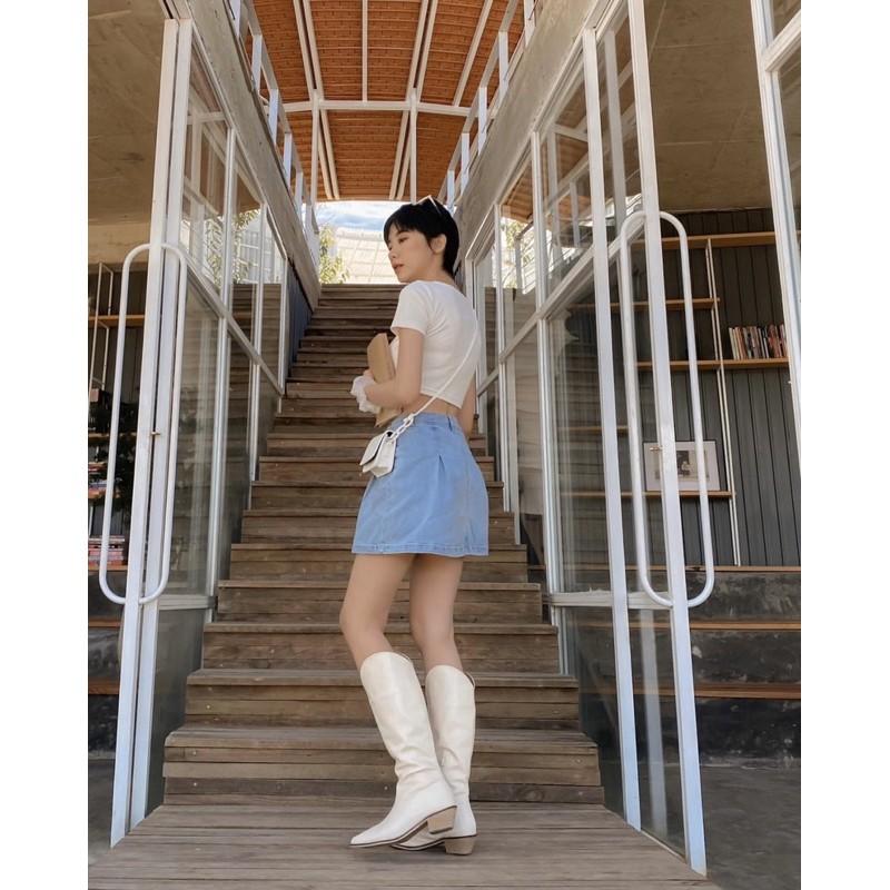 Chân váy chít li form a siêu xinh