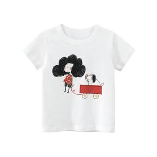Áo thun bé gái 27Home in hình cute chất liệu 100% cotton an toàn cho bé hàng chuẩn xuất Âu Mỹ