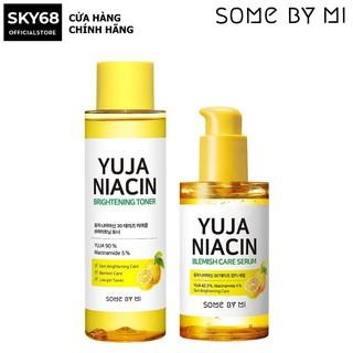 Combo Nước hoa hồng + Serum Dưỡng Ẩm, Trắng Da Chiết Xuất Quả Thanh Yên Some By Mi Yuja Niacin 30 Days (Toner + Serum) thumbnail