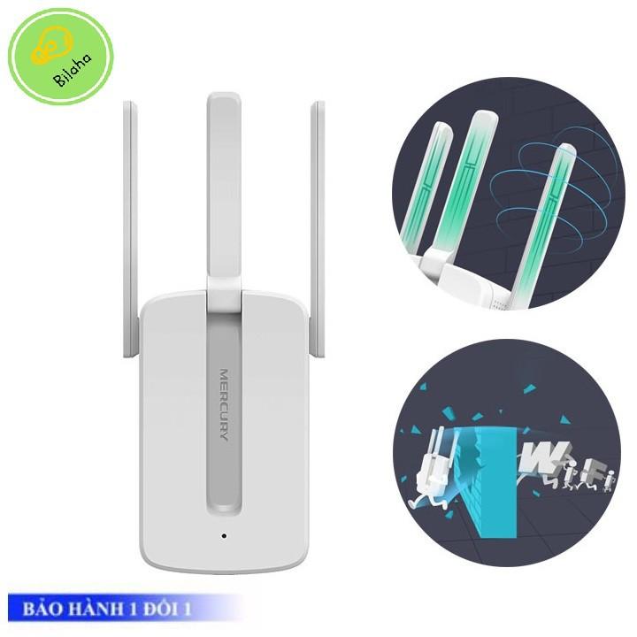 Khuếch đại repeater thu và phát lại sóng Wifi mới Mercury 3 anten câu mạng ké [freeship] Giá chỉ 282.000₫
