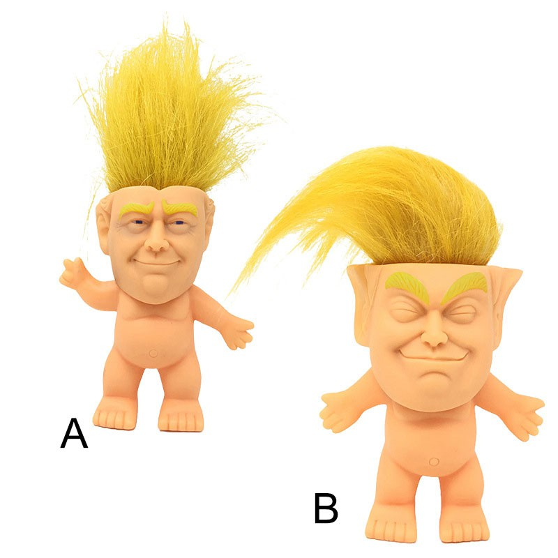Donald Trump Funny Face Doll Colorful America President Troll Toy