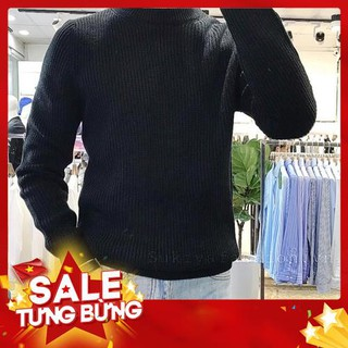 Áo len nam cổ tròn hàng hiệu dày, Chất mềm mịn kiểu dáng Hàn Quốc -Hàng nhập khẩu
