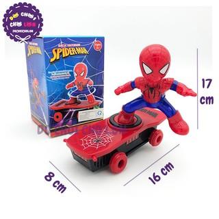 Hộp đồ chơi người nhện trượt ván lật 360 độ có đèn nhạc 169-112 33 IN 1