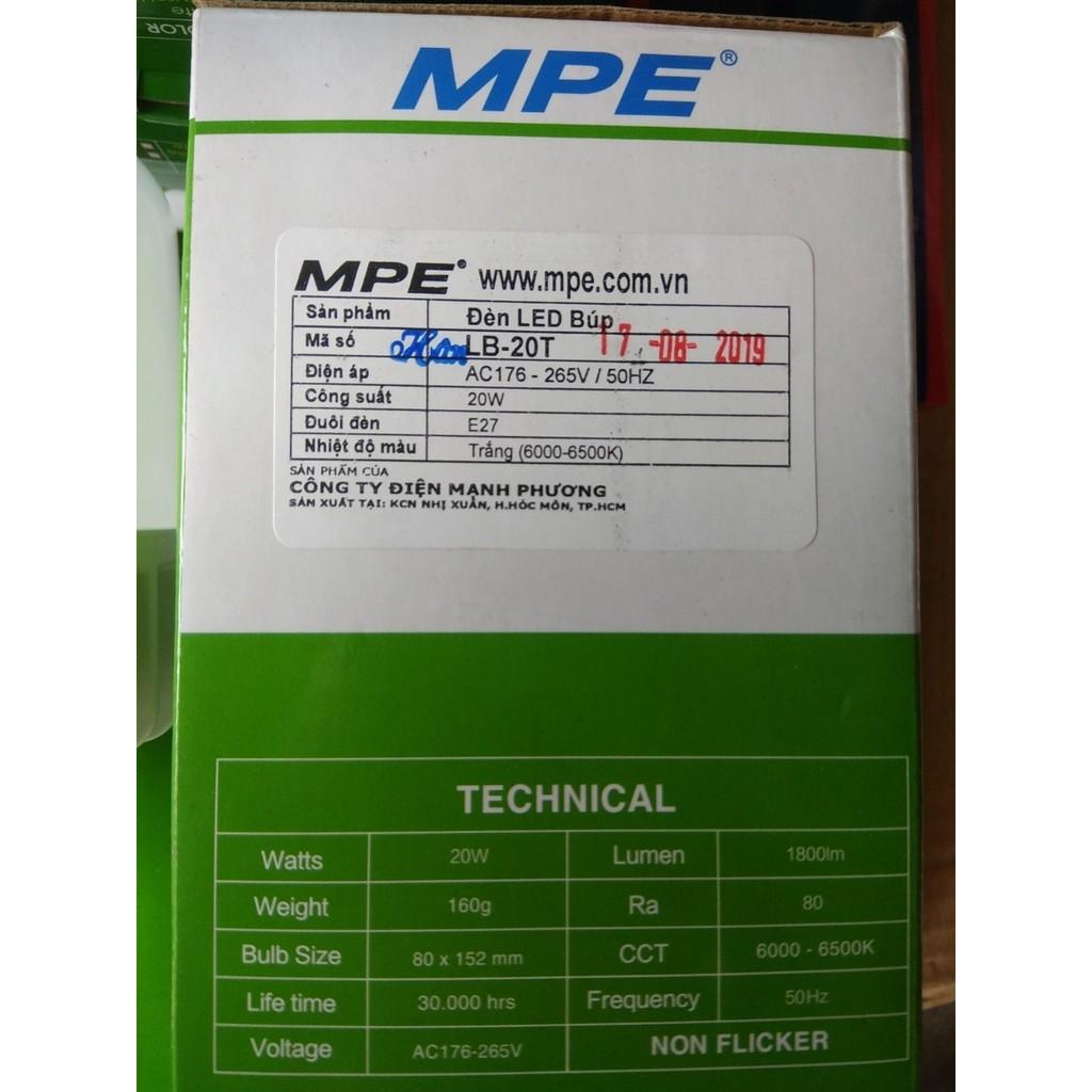 Bóng đèn led thân nhôm MPE 20w - led trụ 20w MPE chất lượng cao . - Bóng đèn