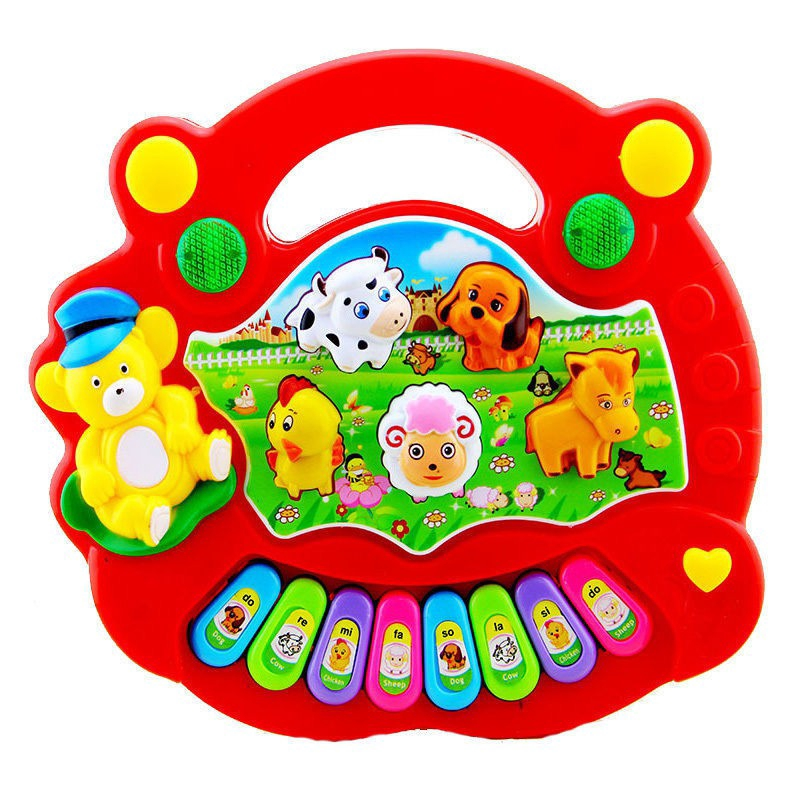 Baby Musical Educational Animal Farm Piano Developmental Music Toy Gift