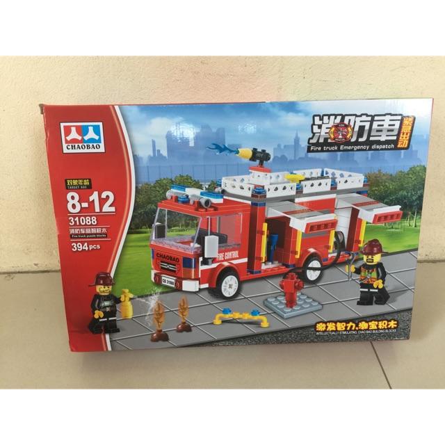 Lego Chaobao No 31088- 394 pcs, xe cứu hoả chữa cháy