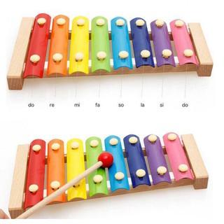 DGK - Đồ chơi Đàn Piano Xylophone gỗ 8 thanh quãng - Đồ chơi âm nhạc cho bé 1