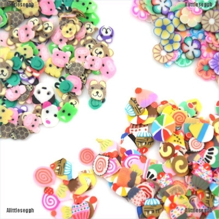【Alit】300pcs/bag DIY Slime Accessory Fruit Polymer Clay Antistress Jelly Mud T