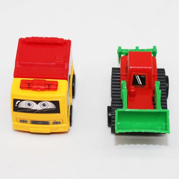 8 Pcs Children Mini Pull Back Car Toy Construction Car Engineering Car Cute