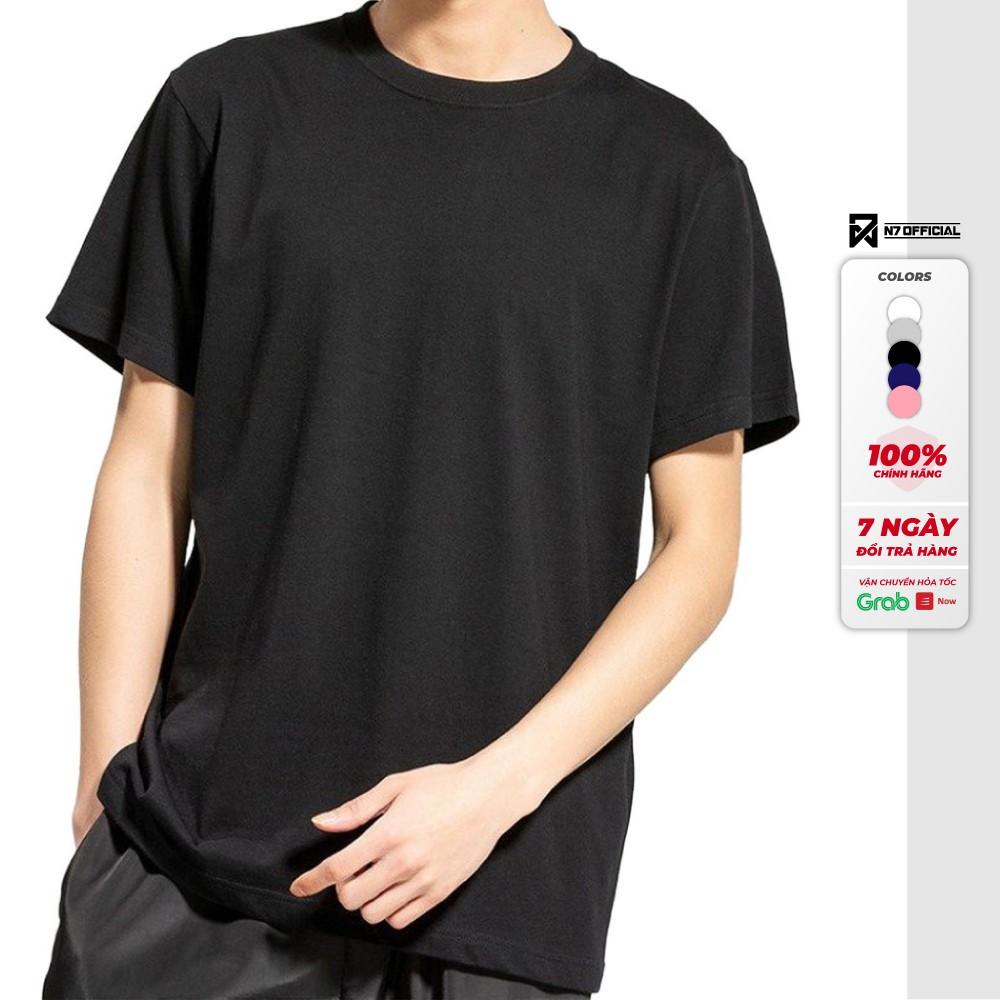 Áo thun N7 trơn 5 màu phông basic tee ngắn cổ tròn cộc tay cao cấp cotton 100% hàng hiệu nam nữ Unisex dáng thể thao