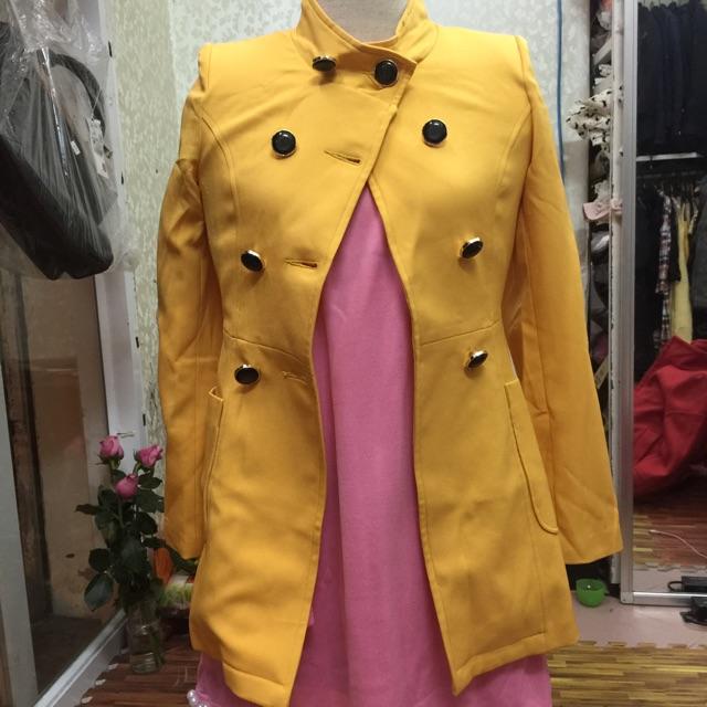 áo khoác kaki vàng - hàng thiết kế