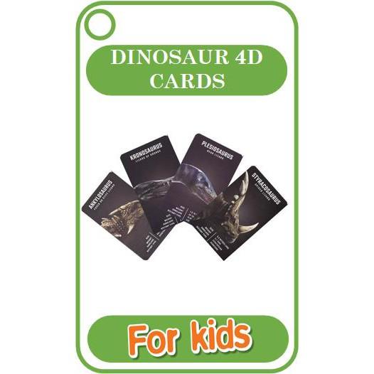 Bộ card KHỦNG LONG 4D cho bé