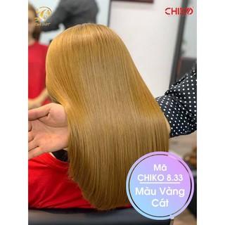 Thuốc nhuộm tóc màu Vàng cát (full bộ kèm oxy, gang tay, không làm khô tóc)