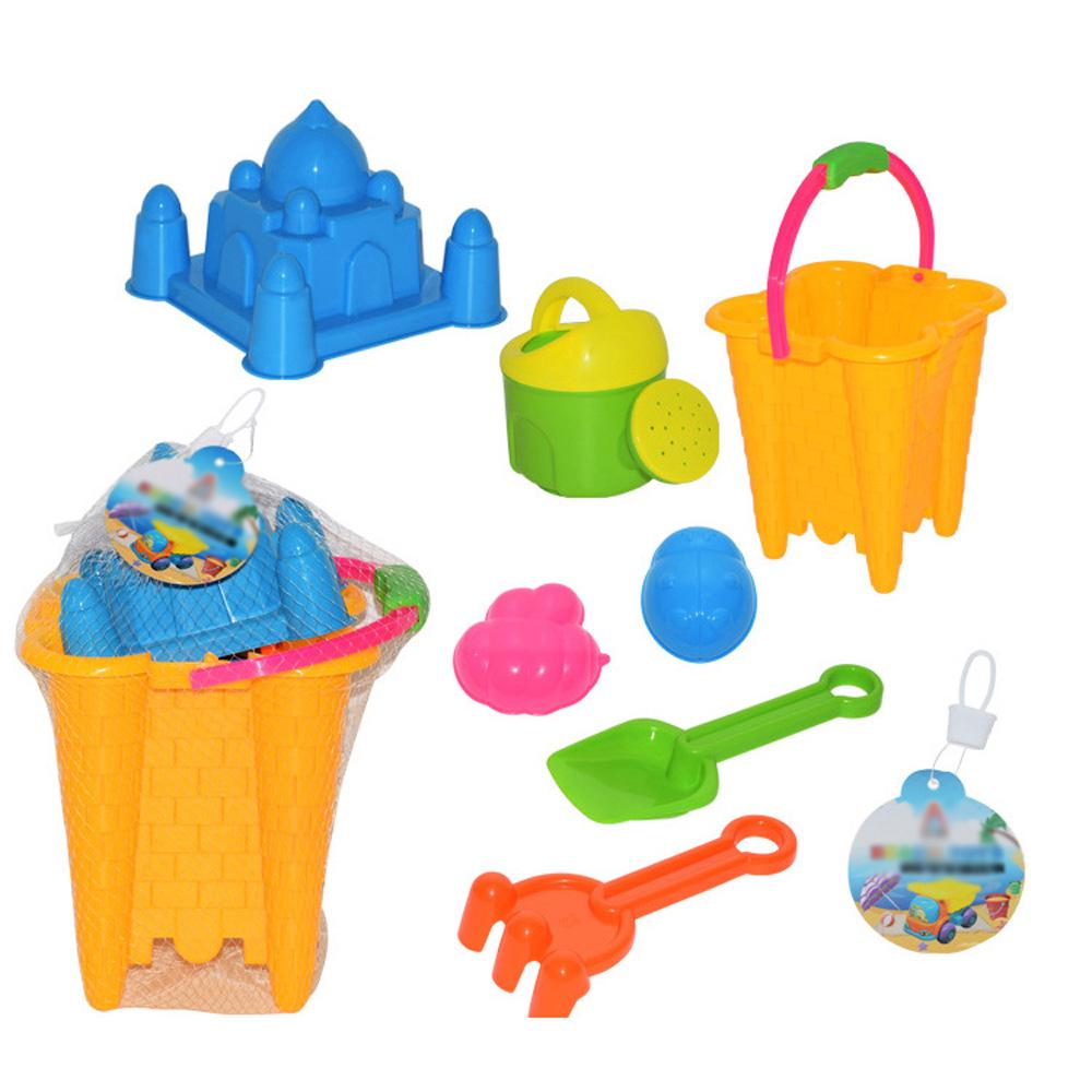 ❤7pcs Sand Castle Mould Kit for Kids Bucket and Spade Beach Holiday Sandpit Toys