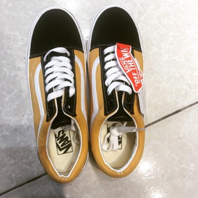 Giày Vans Đen Vàng size nam nữ 36-43