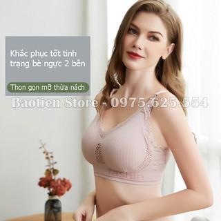 Áo lót bầu cho con bú sau sinh, Áo ngực không gọng, đệm mút mỏng, nâng đỡ ngực chống chảy xệ tốt, chất cotton AN08