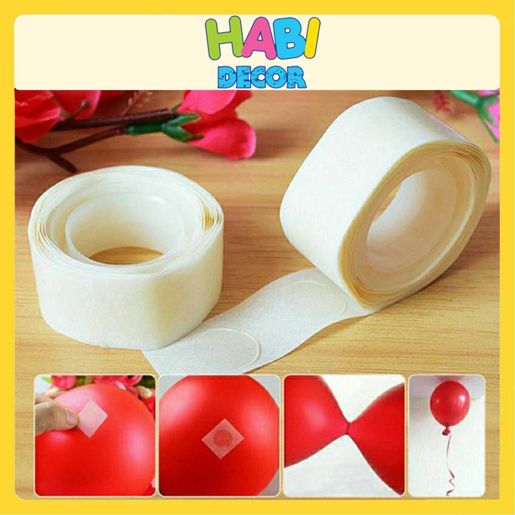 [Loại A] Cuộn 100 miếng băng dính chuyên dùng dán bóng trang trí sinh nhật cho bé trai, bé gái,trang trí phòng cưới PK08