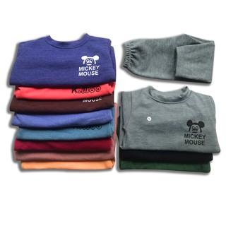 [ XẢ HÀNG ] Bộ len mặc nhà cho bé siêu rẻ, co giãn, size 8-19kg thumbnail