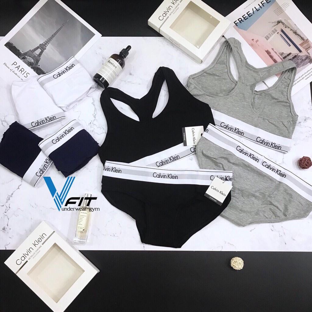 [Full box] Combo 3 set đồ lót nữ CK cao cấp màu đen trắng xám