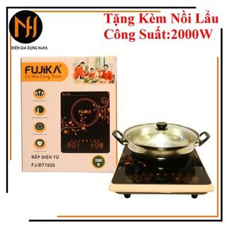 [CHUẨN HÃNG]Bếp điện từ 2000W Fujika FJ-BT1920 tặng kèm nồi lẩu inox, công suất 2000W, BH 12 tháng