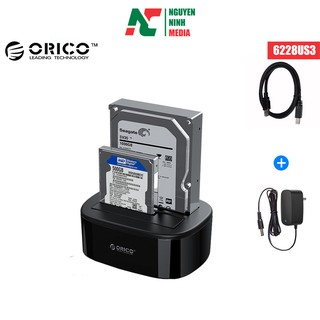 [Mã ELMSBC giảm 8% đơn 300K] Đế Đựng 2 Ổ Cứng Docking HDD ORICO 6228US3 2.5/3.5Inch Giao Tiếp USB 3.0 Chính Hãng