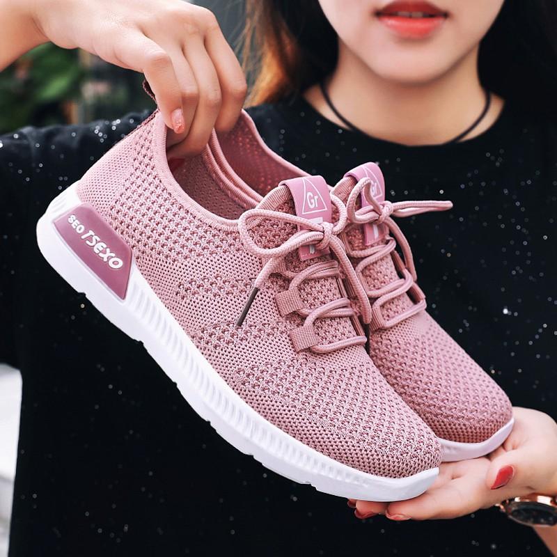 Giày Thể Thao Nữ siêu thoáng siêu êm chân hot trend 2020 Giày Thể Thao Sneaker Nữ
