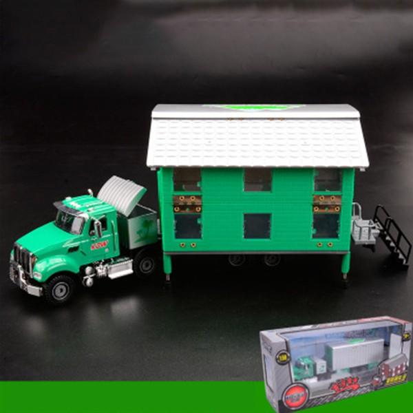 DIY Simulation Car 1:50 Double-Deck RV Toy Alloy Transformable House Vehicles