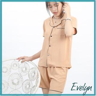 Bộ mặc nhà nữ mùa hè pijama đồ ngủ nữ Evelyn chất đũi mát kiểu dáng basic thumbnail