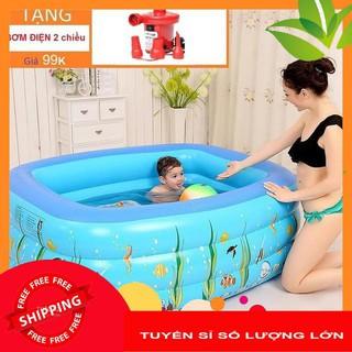 Bể Bơi Hồ Bơi 3 Tầng Cho Bé Tặng Kèm Bơm Điện Kích Thước TỪ 120cm ĐẾN 210cm (Tuyển Sỉ )
