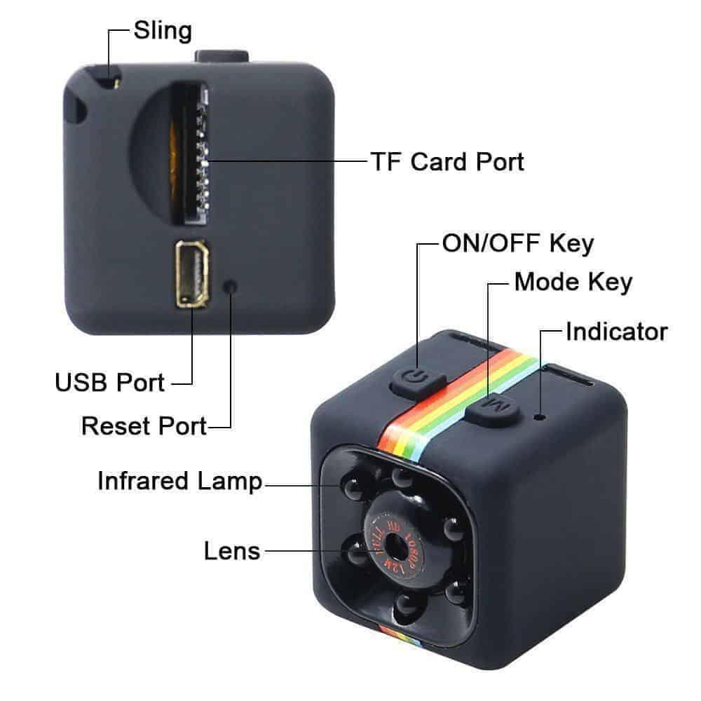 Camera hành trình xe máy sq11 full hd 1080p - camera mini siêu nhỏ chống  rung chống nước